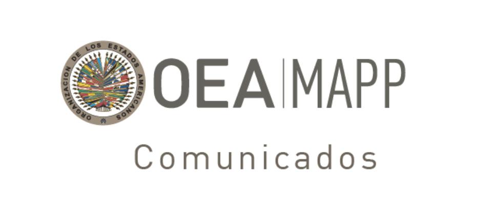 Misión de la OEA de Apoyo a Paz en Colombia saluda disposición del Gobierno de Colombia frente a la paz y señala retos urgentes