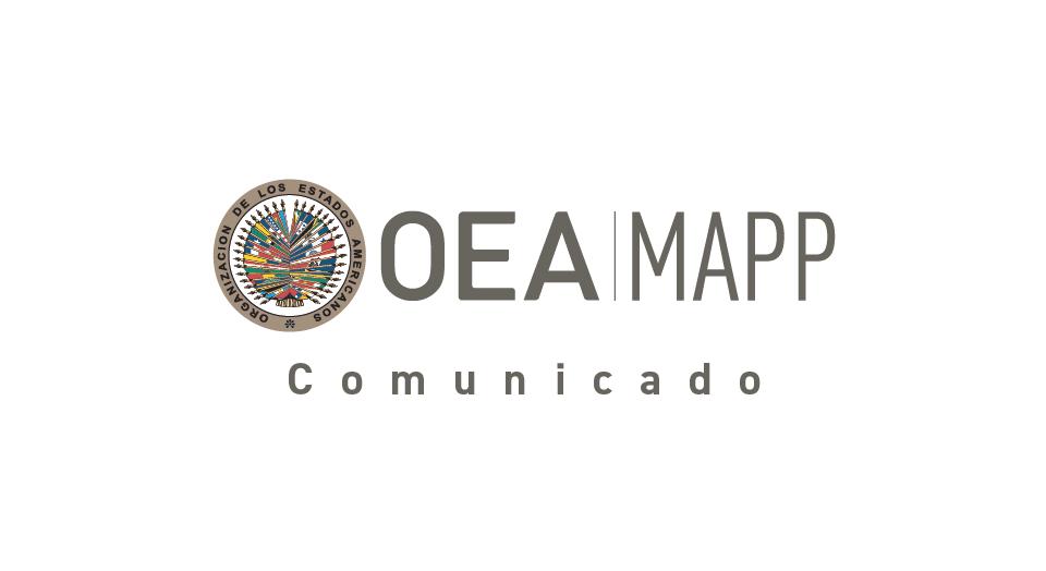 Ante retos de la pandemia, MAPP/OEA llama a fortalecer sinergias y esfuerzos en favor de la paz en Colombia.