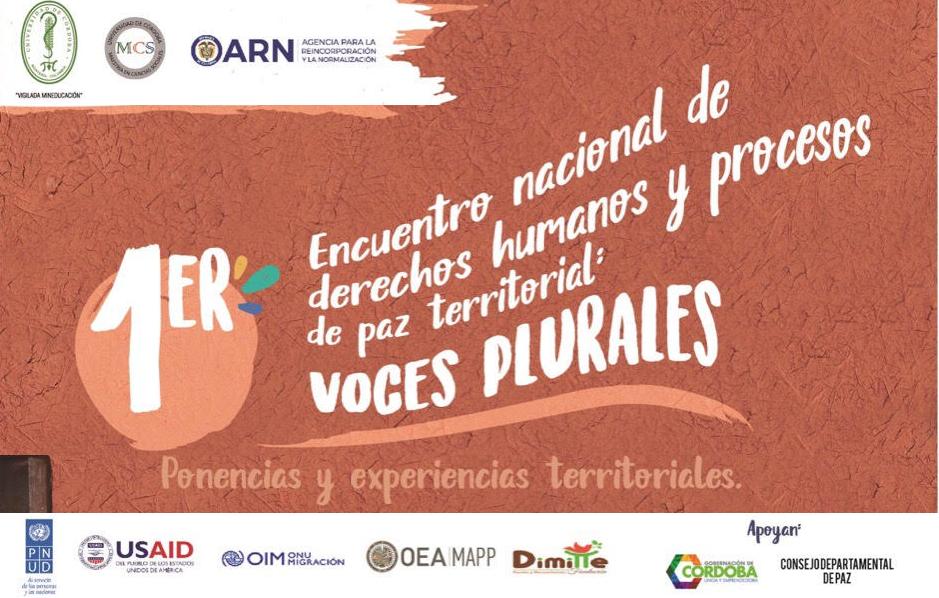 """Primer Encuentro Nacional """"Voces plurales"""" en Montería"""
