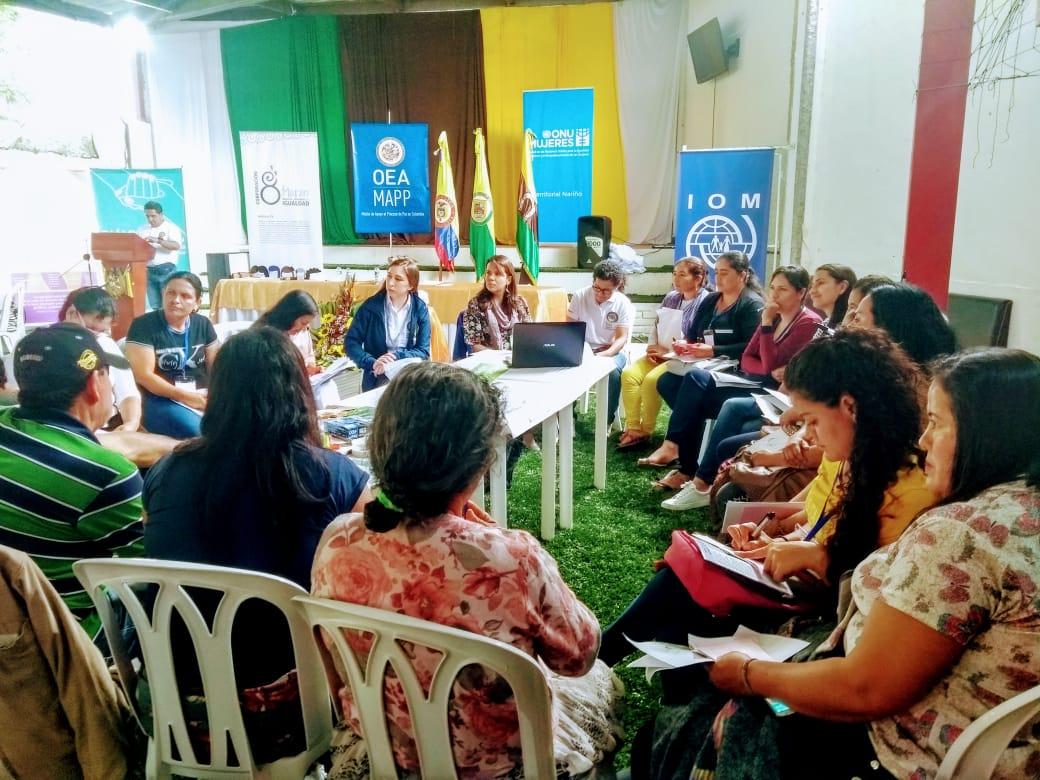 Mujeres de la cordillera nariñense persisten en su participación efectiva